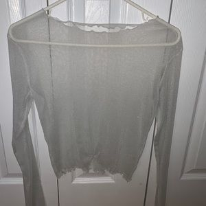brandy melville clear sparkly top